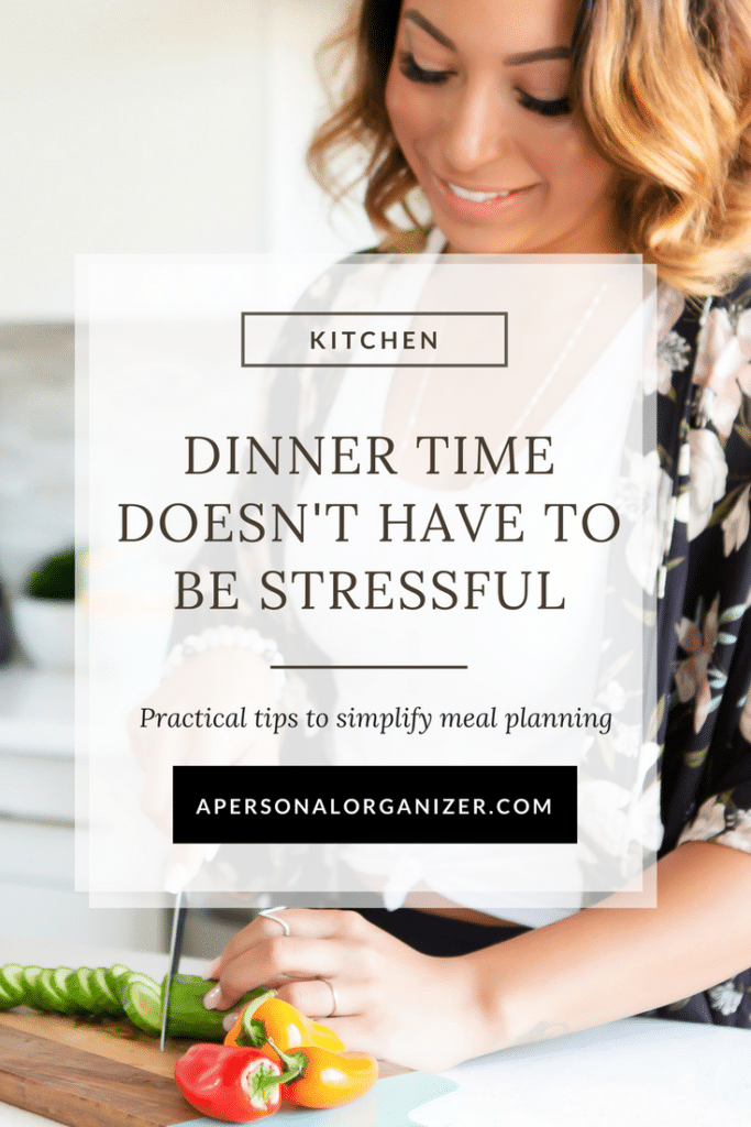 Dinner time doesn't have to be stressful. Tips to implement today and make dinner time easier and healthier. Plus, a FREE grocery planner download!