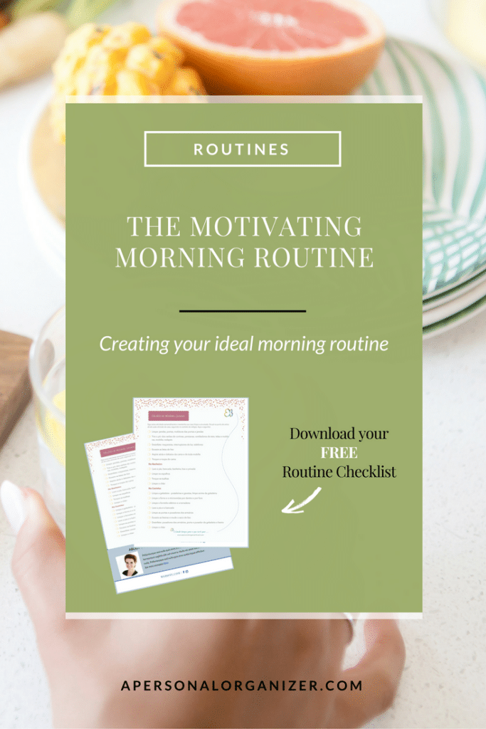 The motivating morning routine.