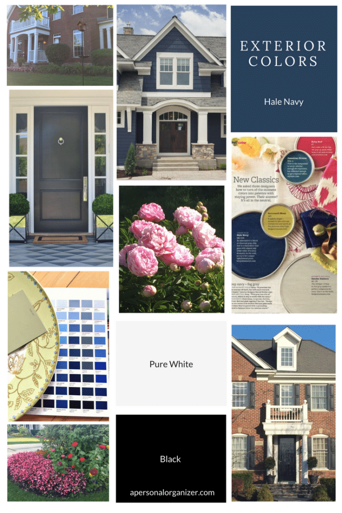 Choosing Exterior Outdoor Colors Mood Board