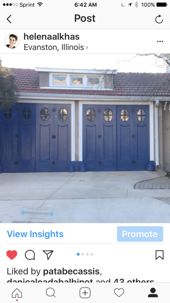 Custom blue garage doors