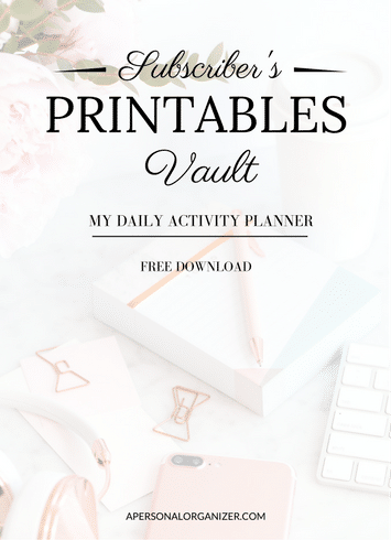 Activity Planner - A Personal Organizer