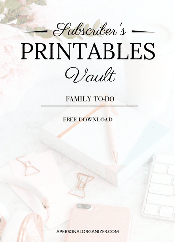 Home printables - Free printable library - Printables to help you stay on track with your home, life and family.