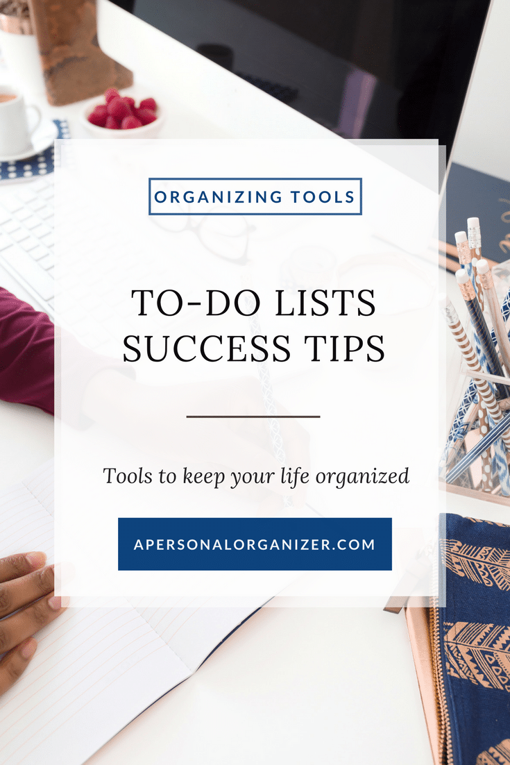 It's easy to feel like a failure with the feeling that you never get anything done. Check my organizing tips to make your to-do list work for you. #organizing #howtoorganize