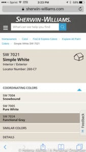 simple white pottery barn colors by sherwin williams color strip
