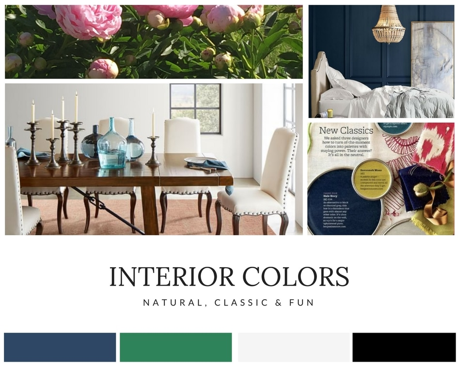 interior color selection moodboard