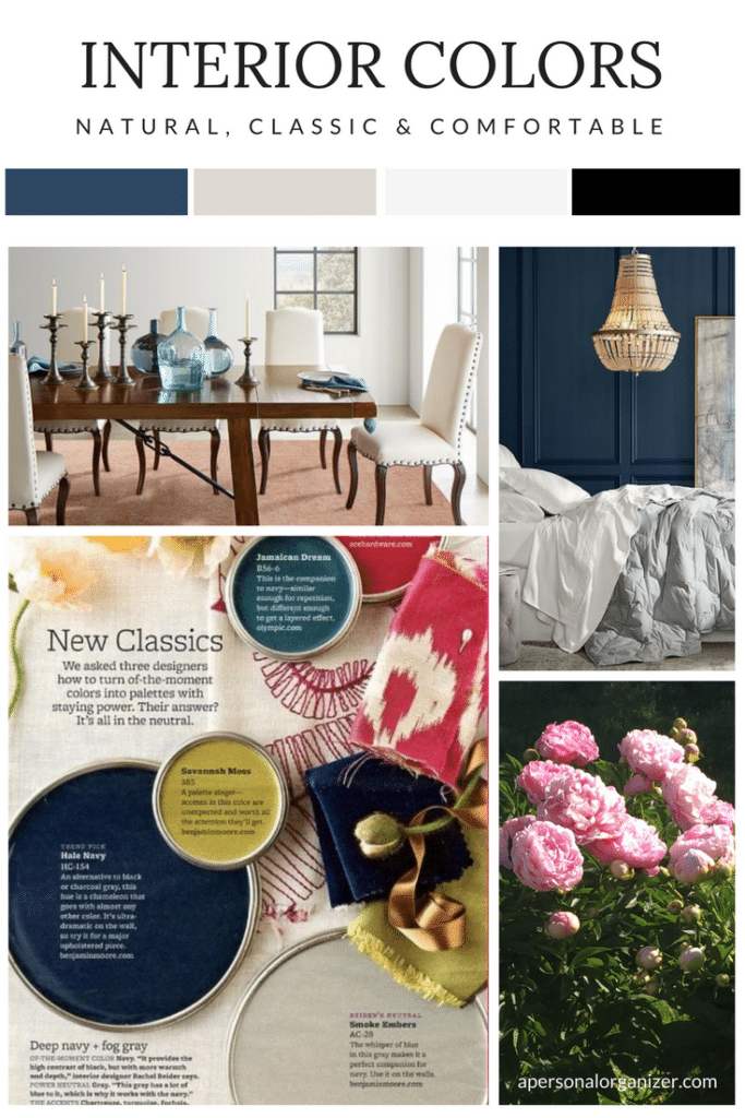 interior pottery barn colors moodboard