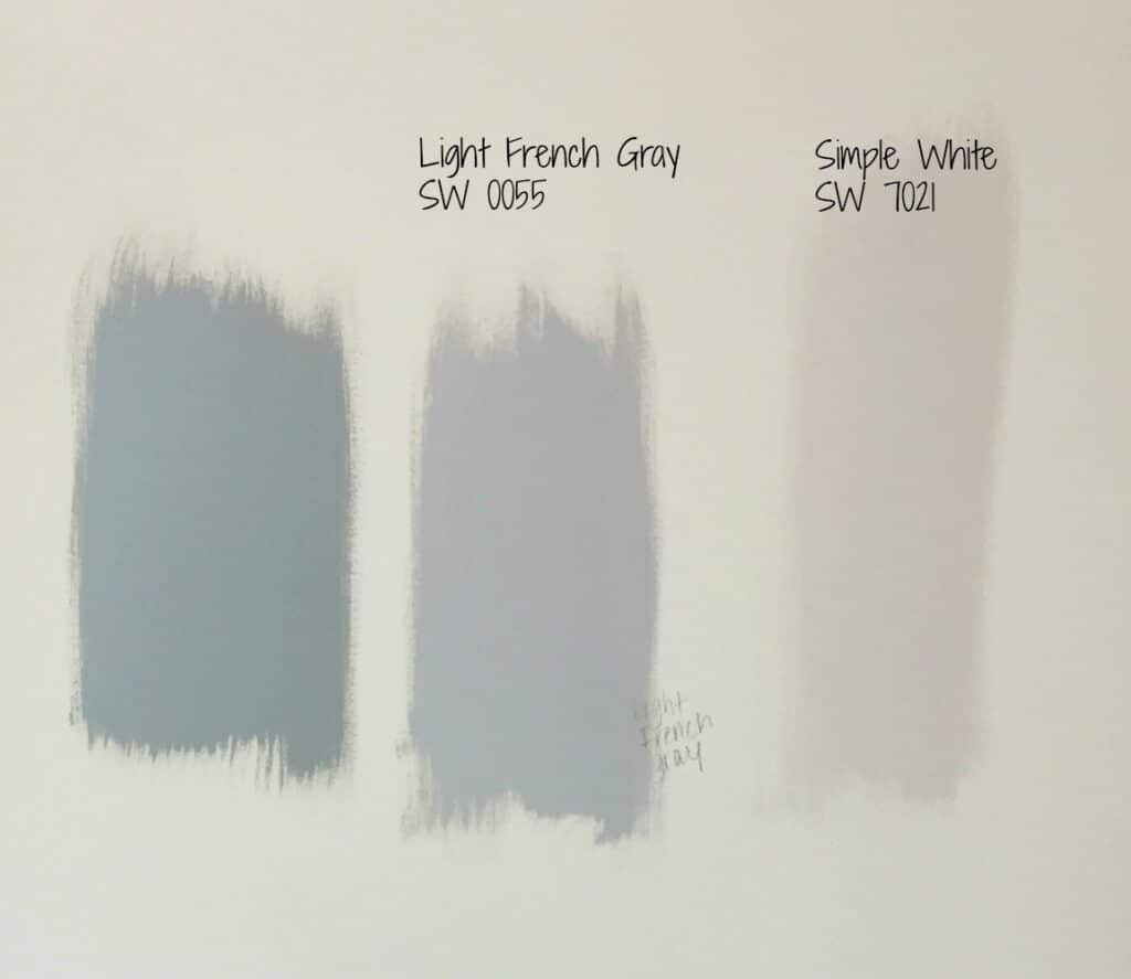 paint samples on wall - selecting interior paint colors