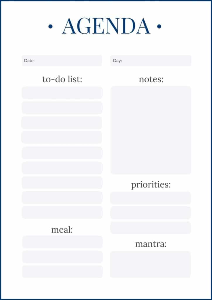 Agenda - A Personal Organizer