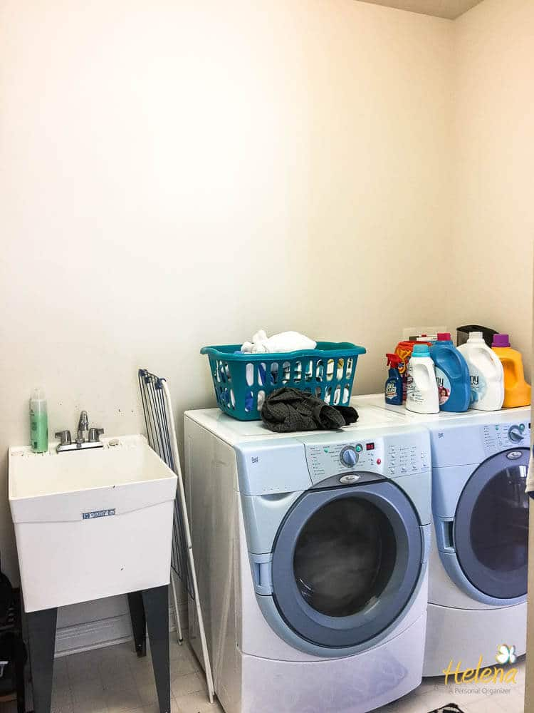 white laundry room with washer and dryer