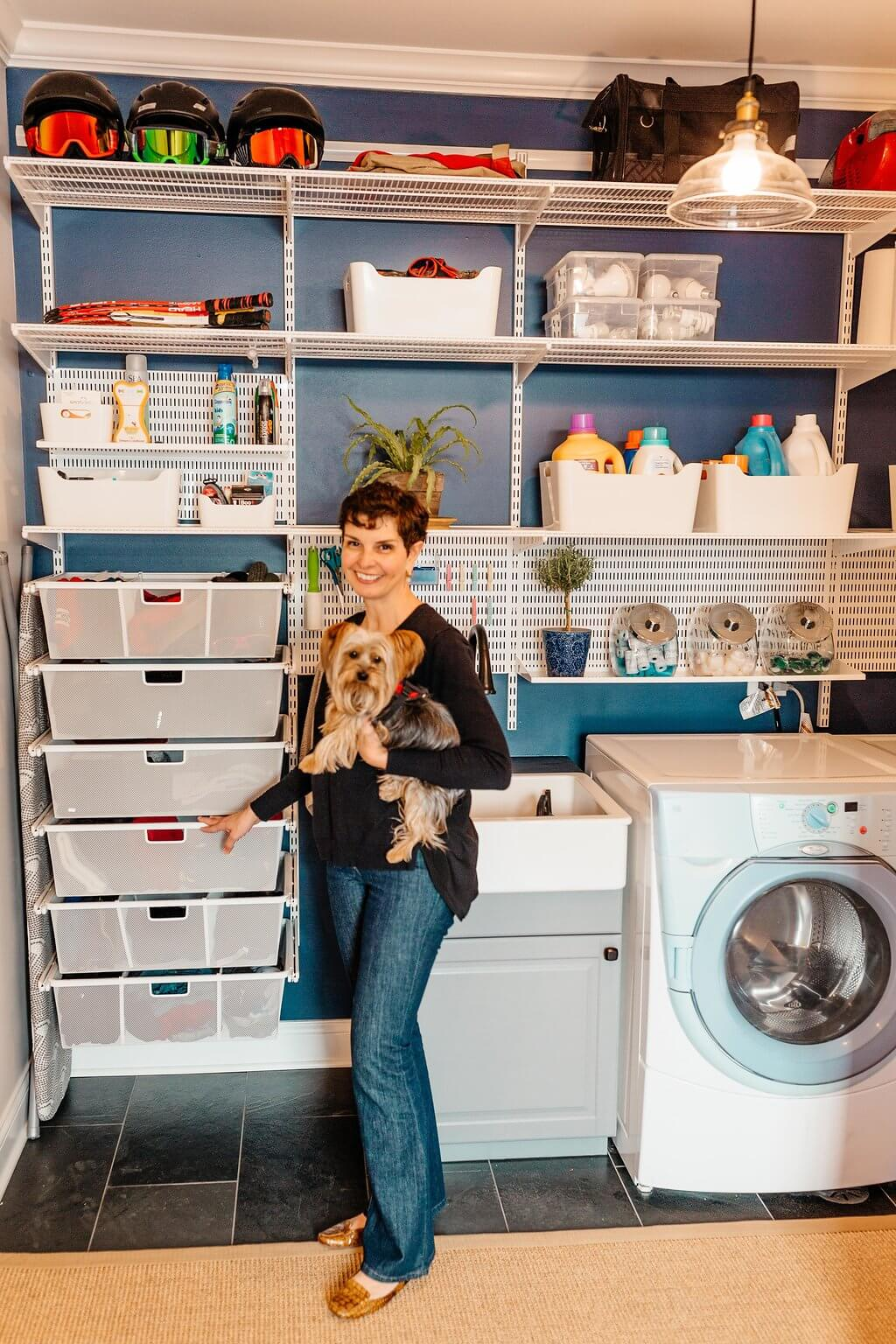 When your laundry room is so functional and pretty you even start enjoying the laundry!