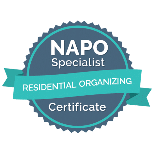 NAPO Specialist Certificate | Residential Organizing