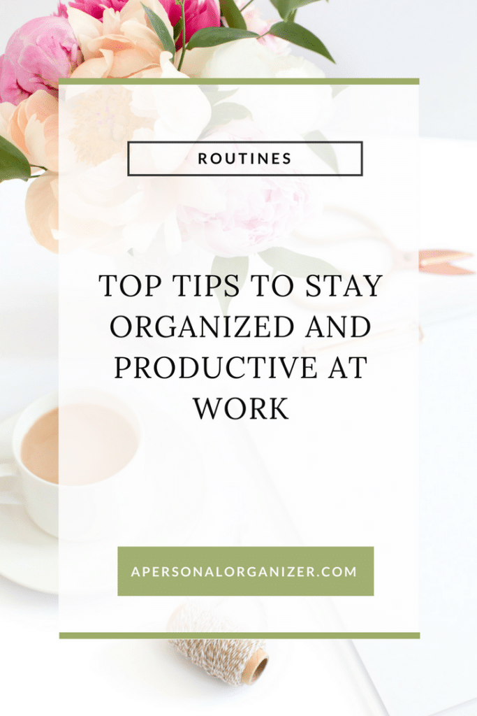 Whether you are an entrepreneur working from home or if you have a job here are simple steps you can take on your daily life to stay organized and productive at work.