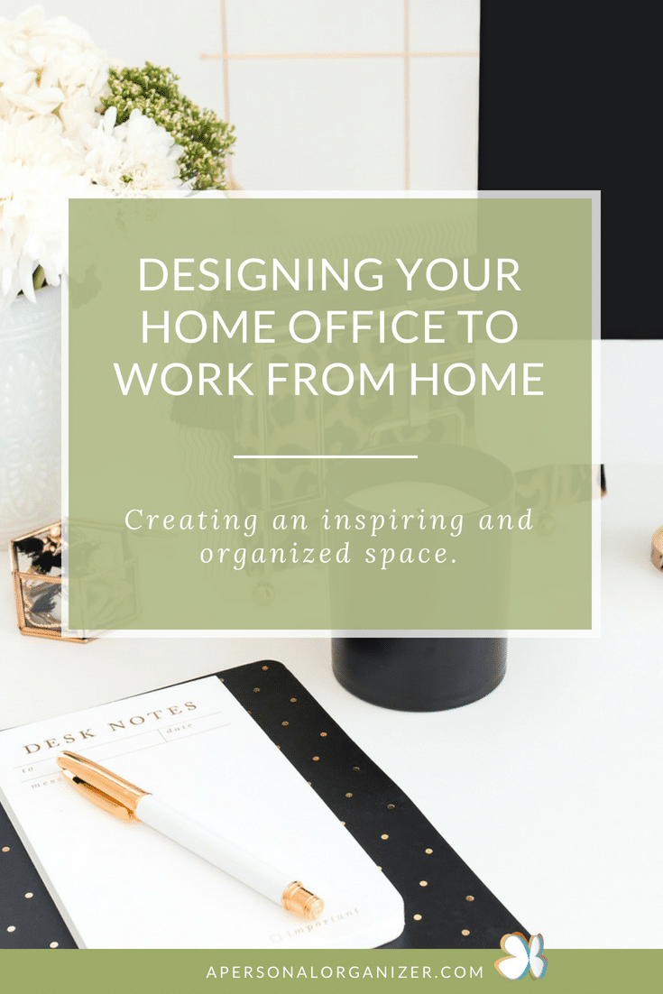 Let's create an inspiring home office for you to work from home. There's more to a desk and a chair for you to be your most productive. Check this post with a list of the essentials to build a gorgeous home office. #homeoffice #organizing #organization