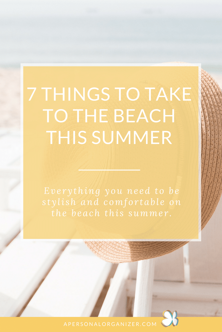 Of course, you'll need the basics like a towel and sunscreen but here are seven things to bring for a comfortable day on the beach! 