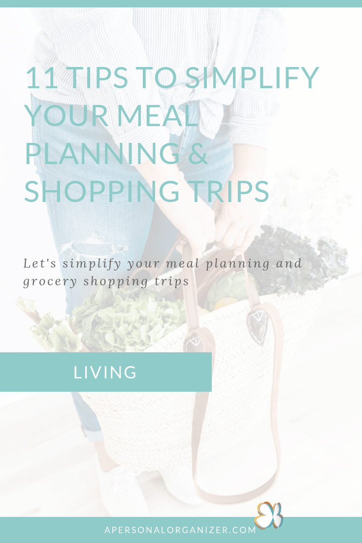 Let's simplify your meal prep and grocery shopping trips. Learn how to organize your kitchen, fridge and shopping list to create meal plans and save time. #mealplan #mealplanning #checklist