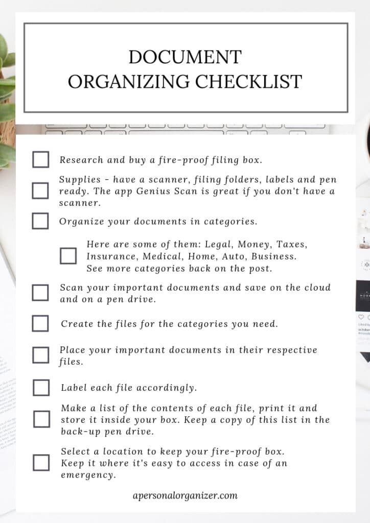 How to Organize Your Files & Documents