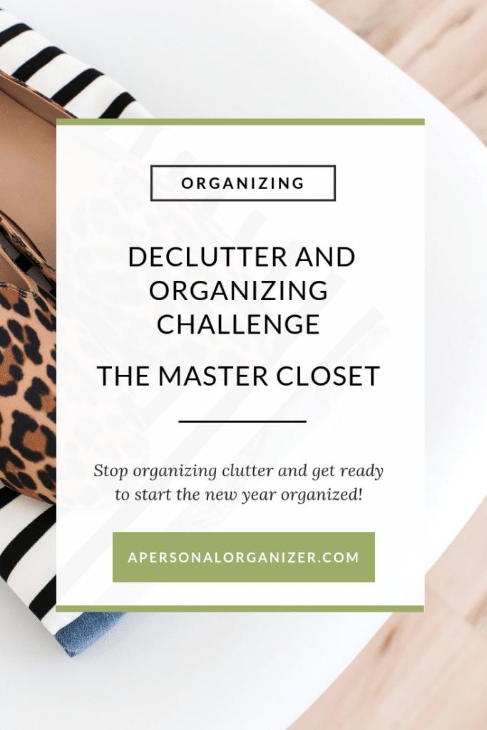 The Master Closet - A Personal Organizer