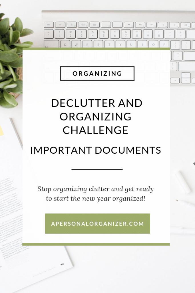 Documents Organizing Checklist - A Personal Organizer