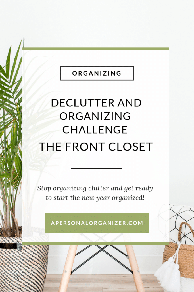 Organizing the Entrance - A Personal Organizer