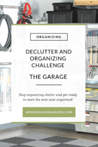 Organize Challene Garage - A Personal Organizer