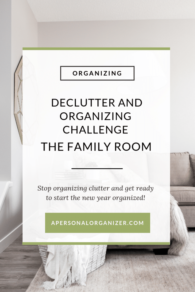 Organizing The Family Room