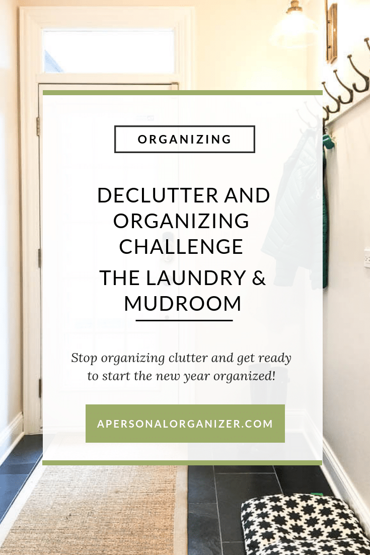 Declutter & Organizing Challenge - The Laundry and Mudroom