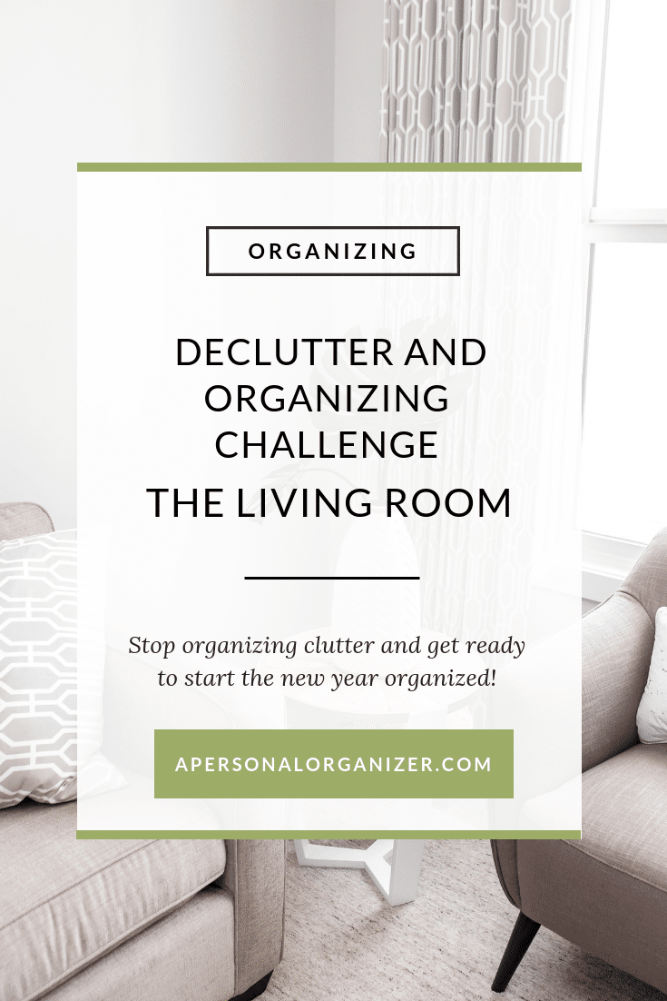 declutter and organizing challenge - the formal living room