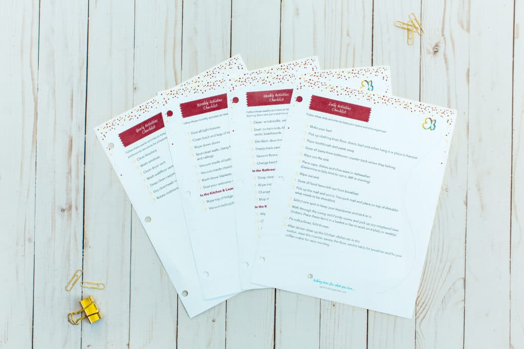 cleaning routines printable checklists
