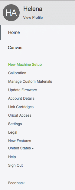 Calibrating your new Cricut Maker machine.