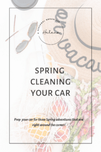 Spring cleaning your car - A Personal Organizer