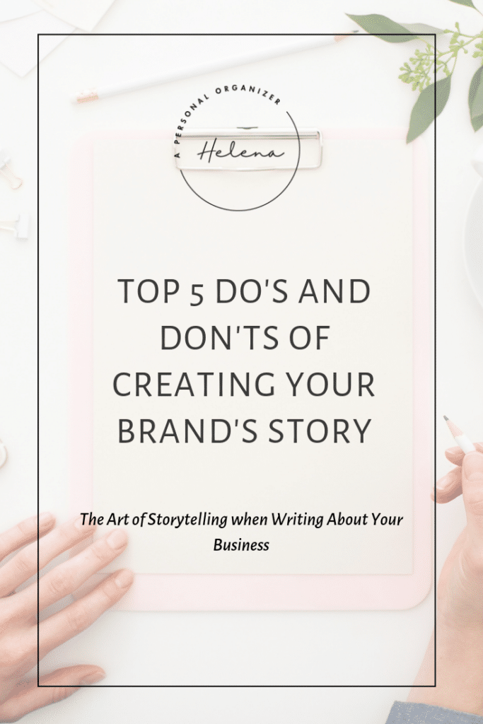 The Art of Storytelling - A Personal Organizer