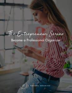Start professional organizing business