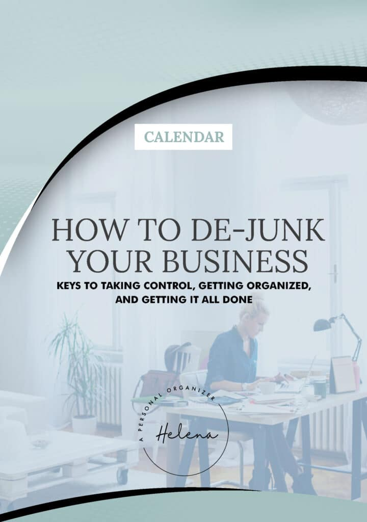 Calendar - Dejunk your business - eBook, Workbook & Planner.