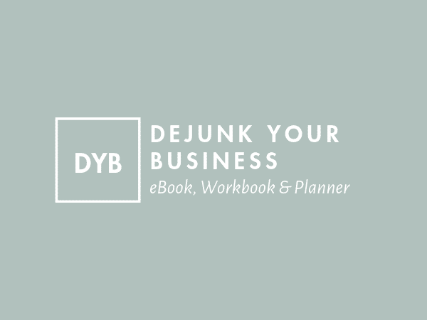 Dejunk your business - eBook, Workbook & Planner
