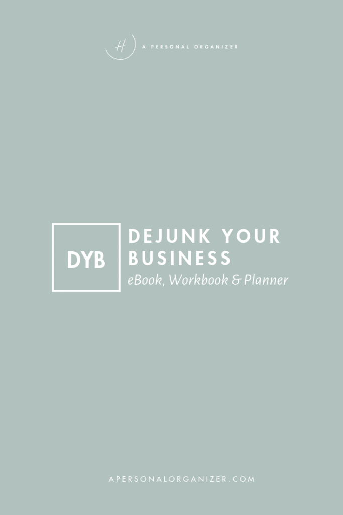 Dejunk your business - A Personal Organizer