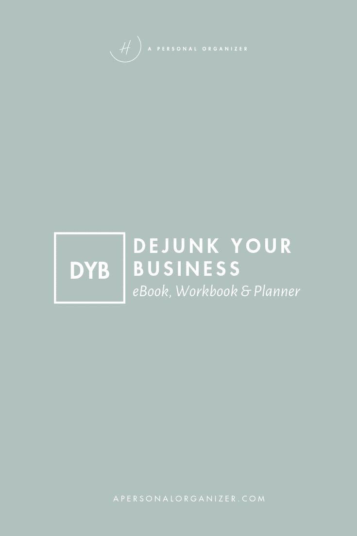 Dejunk your business - eBook, Checklist, Workbook & Planner