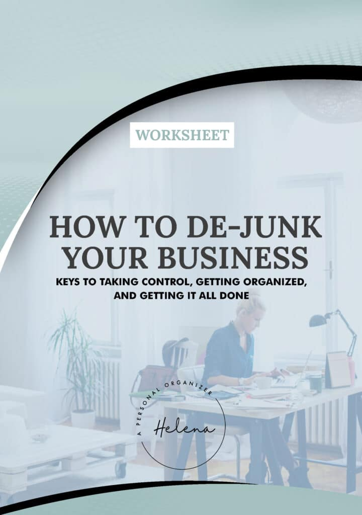 WORKSHEET - Dejunk your business - eBook, Workbook & Planner.