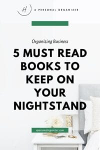 5 Must read books to keep on your nightstand.