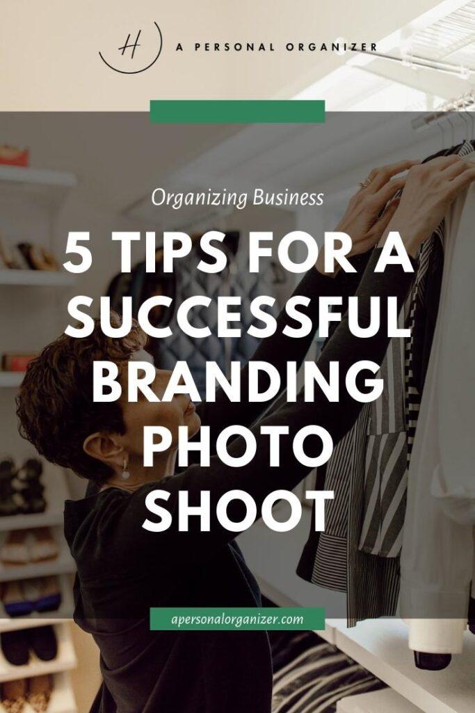 successful branding photoshoot organizing business