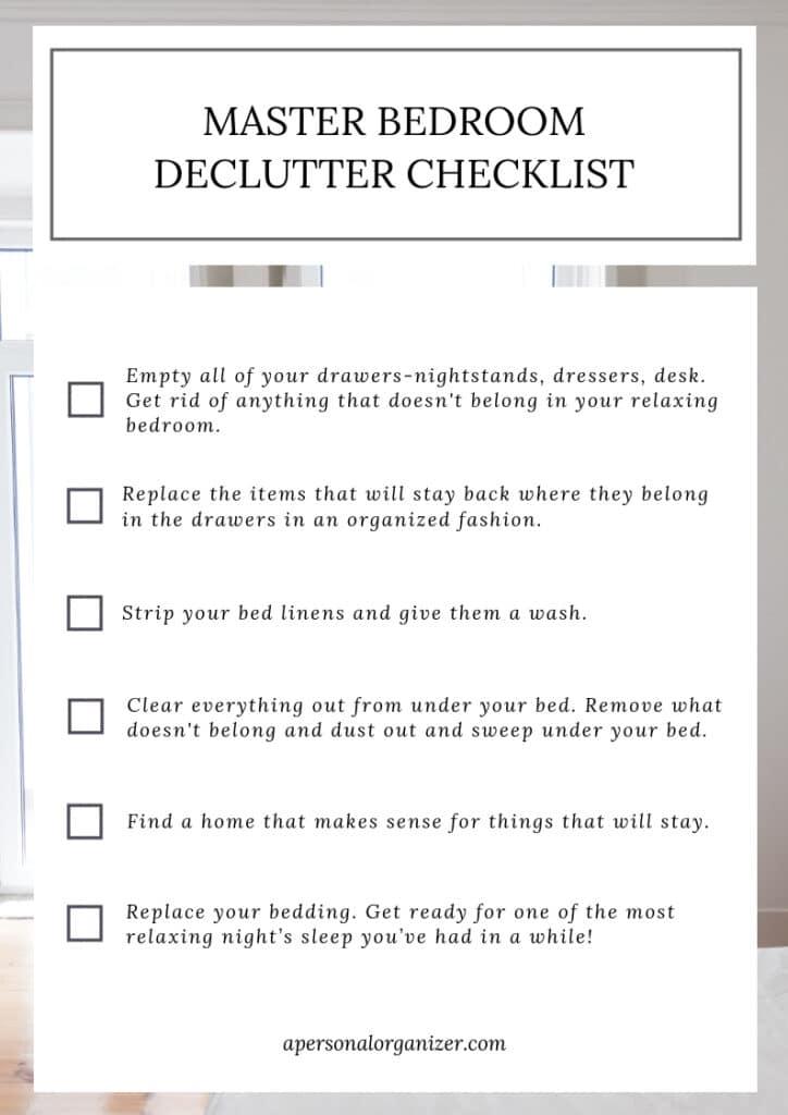 Organizing The Master Bedroom