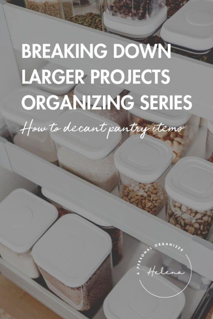 pantry organizing: tips, how-to and tools.