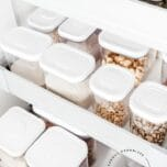 Pantry Organizing - Use these tips to decant your dried goods and create your own Insta-worthy pantry like a professional organizer