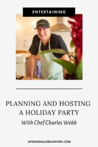 Planning a holiday party with Chef Charles Webb