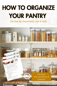 pantry organizing checklist
