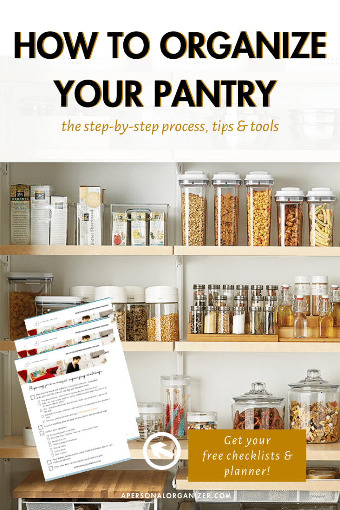 pantry organizing checklist