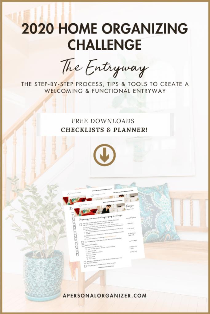 organizing the entryway