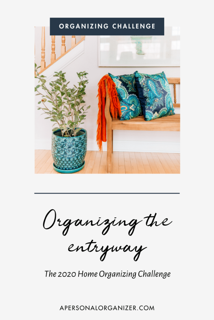 organizing the entryway
