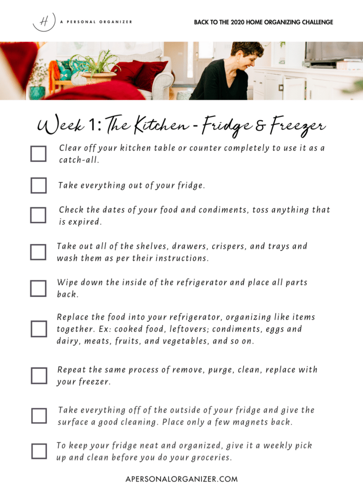 2020 Home Organizing Challenge - The Kitchen - Fridge & Freezer