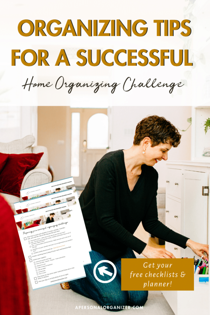 My best tips to start any organizing project and to prepare for a successful 2020 Home Organizing Challenge. Come with me and I'll guide you on how to organize every room of your home, sharing organizing tips, tricks, and tools to declutter and organize your house from top to bottom.  You can organize any room you want or your entire home.  Share your before & after pics with me on IG or FB to enter the giveaway! Remember to tag me and include the #apochallenge Join me now! #organizing