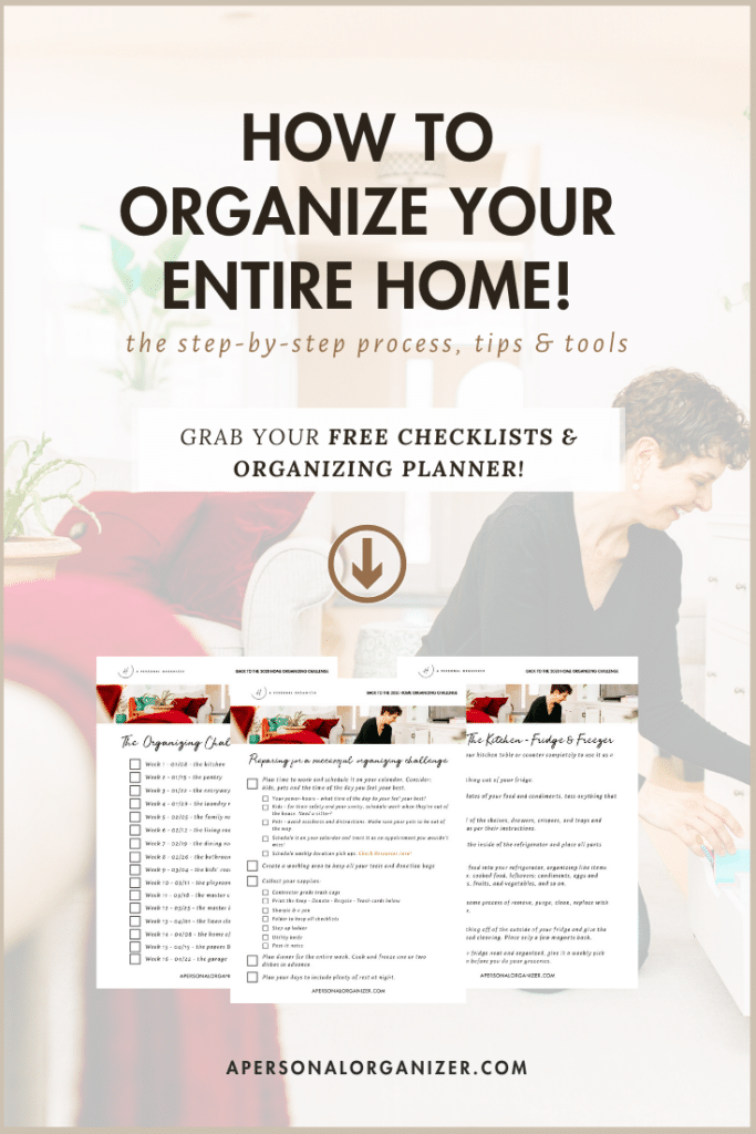 2020 Home Organizing Challenge